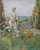 In the Garden Celia Thaxter in Her Garden 1892 - Childe Hassam