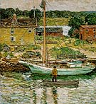 Oyster Sloop Cos Cob 1902 - Childe Hassam