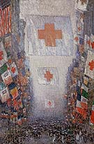 Red Cross Drive May 1918 Celebration Day - Childe Hassam