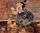 Roses in a Vase 1890 - Childe Hassam