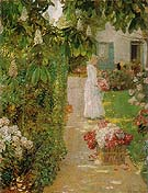Gathering Flowers in a French Garden 1888 - Childe Hassam