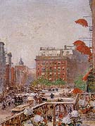 View of Broadway and Fifth Avenue 1890 - Childe Hassam