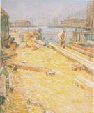 The Sparyard Inner Harbor Gloucester 1895 - Childe Hassam