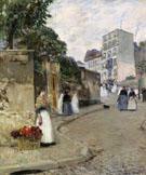 Rue Montmartre Paris - Childe Hassam
