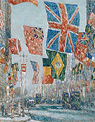 Avenue of the Allies Great Britain 1918 - Childe Hassam