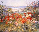 Celia Thaxters Garden Isles of Shoals Maine - Childe Hassam