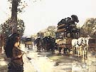 April Showers Elysees Paris 1888 - Childe Hassam