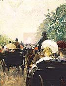 Carriage Parade 1888 - Childe Hassam