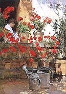 Geraniums 1888 - Childe Hassam
