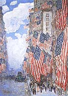 The Fourth of July 1916 The Greatest Display of the American Flag Ever Seen in New York Climax of the Preparedness Parade in May 1916 - Childe Hassam