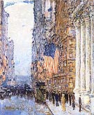 Flags on the Waldorf 1916 - Childe Hassam