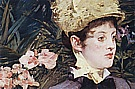 In the Conservatory Detail 1879 - Edouard Manet