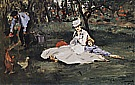 The Monet Family in their Garden 1874 - Edouard Manet