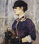 Young Woman in a Round Hat c1877 - Edouard Manet