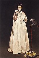 Woman with a Parrot 1866 - Edouard Manet
