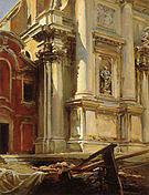 Corner of the Church of San Stae Venice 1913 - John Singer Sargent