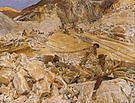Bringing Down Marble From the Quarries to Carrara 1911 - John Singer Sargent