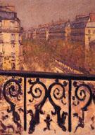 Un Balcony a Paris c1880 - Gustave Caillebotte