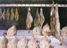 Still Life Display of Chickens and Game Bird 1882 - Gustave Caillebotte