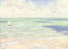 Seascape Regatta at Villers c1880 - Gustave Caillebotte