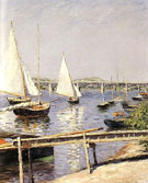 Sailing Boats at Argenteuil c1885 - Gustave Caillebotte