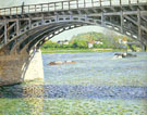 The Argenteuil Bridge and the Seine c1880 - Gustave Caillebotte