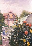 Le Jardin a Petit Gennevilliers Les Roses 1886 - Gustave Caillebotte