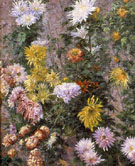 White and Yellow Chrysanthemums Garden at Petit Gennevilliers 1893 - Gustave Caillebotte