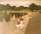 Lilliputian Boat Lake Central Park 1888 - William Merritt Chase