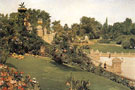 Terrace at the Mall Central Park 1888 - William Merritt Chase
