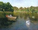 On the Lake Central Park 1890 - William Merritt Chase