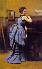 Woman in Blue 1874 - Jean Baptiste Corot