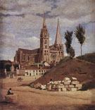 Chartres Cathedral 1830 - Jean Baptiste Corot