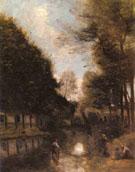 Gisors Riviere Bordee - Jean Baptiste Corot