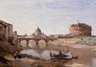 Rome Castle Sant Angelo - Jean Baptiste Corot