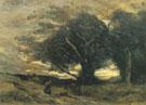A Gust of Wind - Jean Baptiste Corot