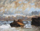 Small Seascape 1872 - Gustave Courbet