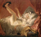 Young Woman Playing Playing with a Dog c1765 - Jean Honore Fragonard