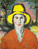 Woman in a Yellow Hat 1908 - Kazimir Malevich