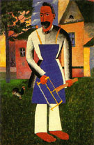 At the Dacha After 1928 - Kazimir Malevich