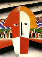 Head of a Peasant c1928 - Kazimir Malevich