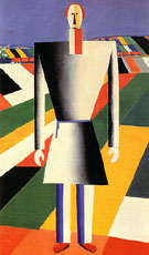 Peasant in a Field c1928 - Kazimir Malevich