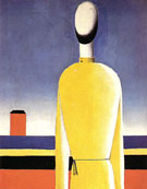 Bust in a Yellow Shirt c1928 - Kazimir Malevich