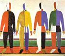 Sportmen c1928 - Kazimir Malevich
