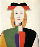 Girl with Ormamental Comb c1923 - Kazimir Malevich