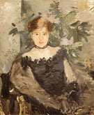 Woman in Black 1878 - Berthe Morisot