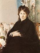 Portrait of Mme Pontillon 1871 - Berthe Morisot
