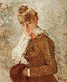 Winter Woman with a Muff 1880 - Berthe Morisot