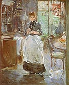 In the Dining Room 1886 - Berthe Morisot