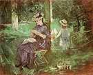 Woman and Child in a Garden 1884 - Berthe Morisot